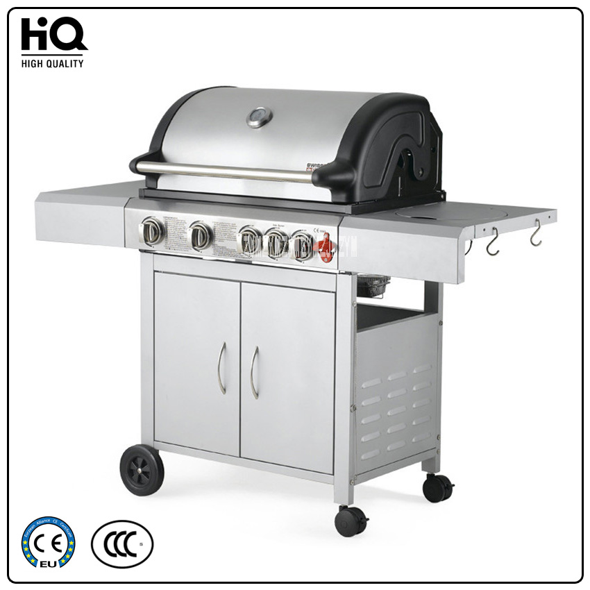 BBQ Grill Stainless Steel Outdoor Gas Stove zs-032,Multi-function Gas Barbecue Grills Courtyard Home 4 Exports,4 Stoves 3C/CE