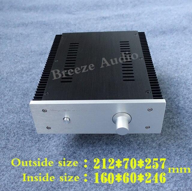 Breeze Audio/weiliang алюминиевое шасси с обеих сторон радиатора усилитель случае Полное издание усилитель мощности chassis2107