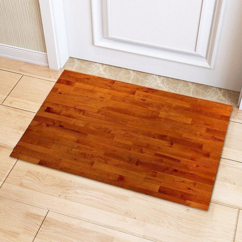 Us 11 8 Wooden Floor Board Carpet For Living Room Bedroom Doormat Non Slip Bathroom Mat Thicken Kitchen Rug Children Kid Mats Tapete In From