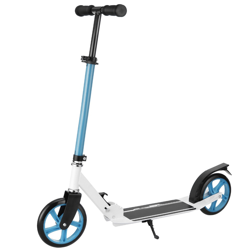 Ancheer New Aluminum Alloy Kick Scooter Adjustable Height Best Gifts for Adult Unisex Men Women Foot Scooters ancheer new adult scooter adjustable height 2 wheel kick scooter foldable 3 levels foot scooters wakeboard