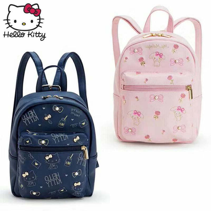 ddbbfa856 Hello Kitty Bag Children's Cartoon Baby KT Backpack PU Leather Waterproof  Boy Girl Schoolbag Shoulder Small
