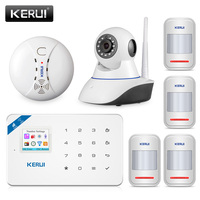 WiFi GSM Alarm System Android Ios APP Control Home Security Alarm System