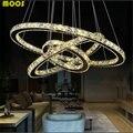 LED De Cristal moderna luzes Pingente Luminárias Para Sala de estar Sala de Jantar Cozinha de Teto Lustre de Cristal Lampen Anel Pendurado