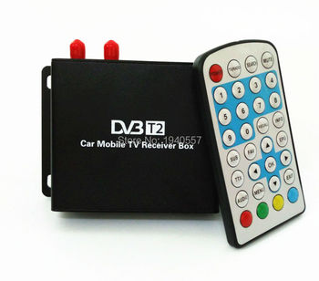 1080P Mobile Car DVB T2 160-180km/h Double Tuner H.264 MPEG4 Mobile Digital TV Box External USB HDMI DVB-T2 Car TV Receiver 2