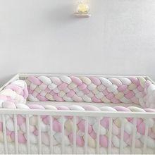 Бампер для детской кровати 2,2 м Экстра 21 см Высота Ширина длинная плетеная кроватка для новорожденного кроватки ограждение коврик защита узел постельные принадлежности младенческий Декор