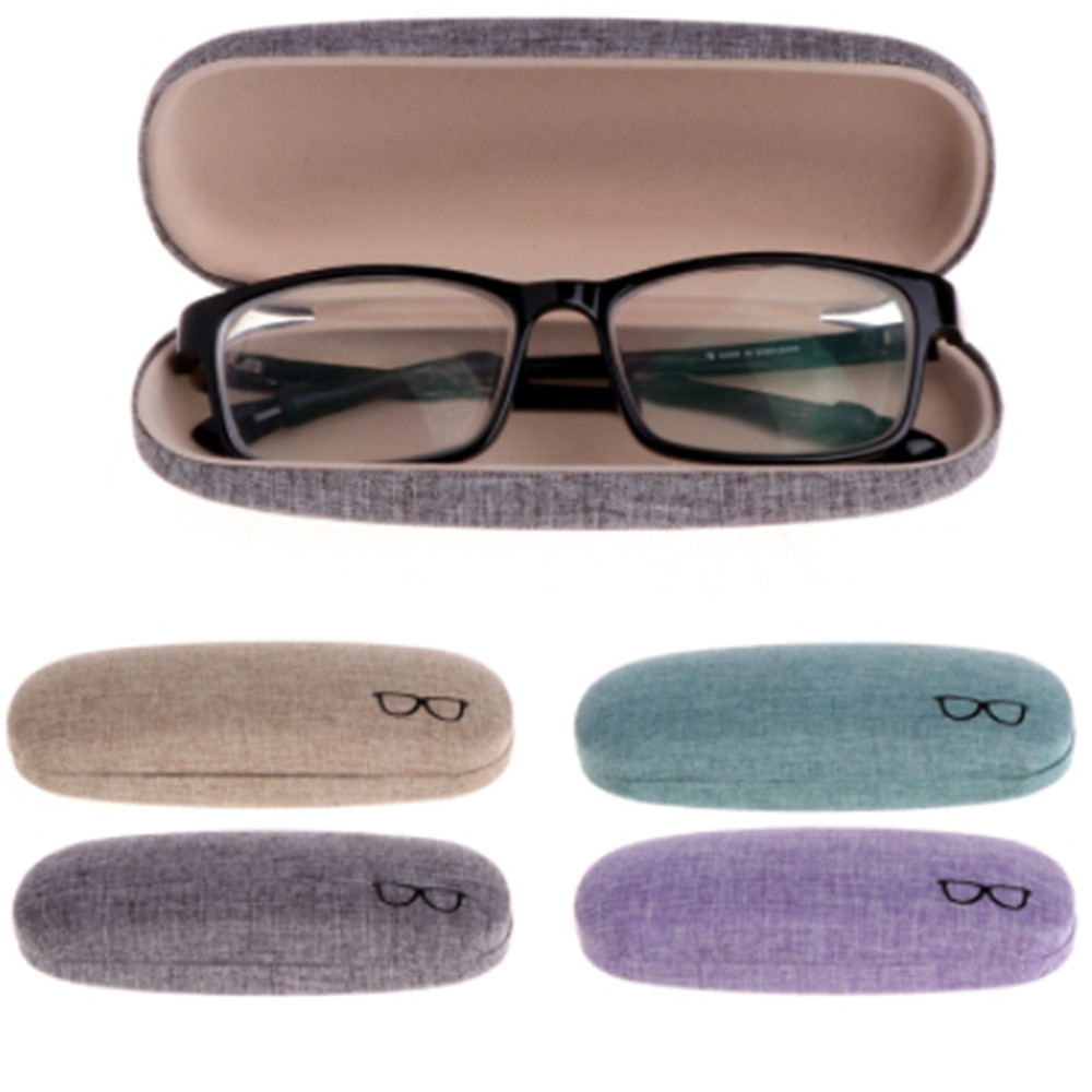 39374ccb498 Lmitation Linen Optical Glasses Case Colorful Cover Case Portable Sunglasses  Hard Eyeglasses Eyewear Accessories Protector Box