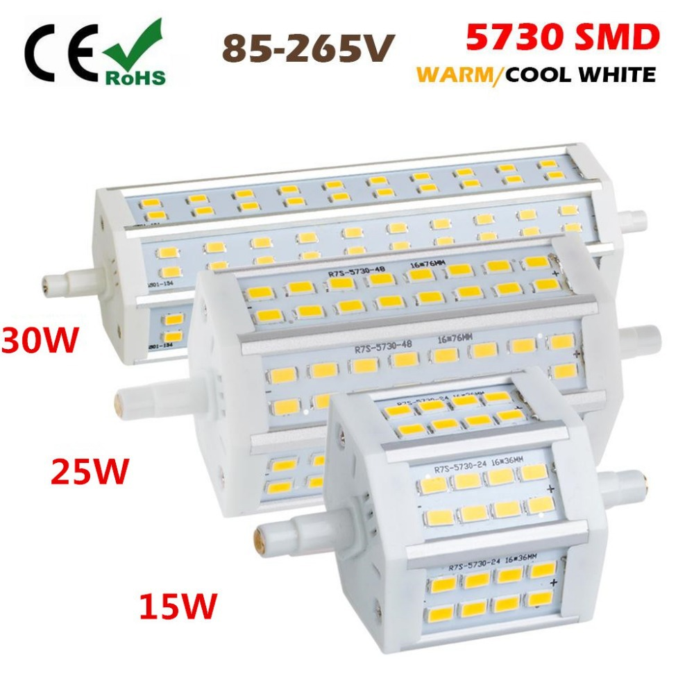 free ship dimmable r7s led 15w 25w 30w cree smd5730 led. Black Bedroom Furniture Sets. Home Design Ideas