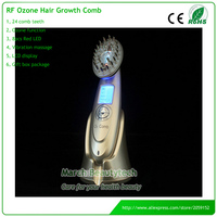 The Newest RF EMS Nurse Photon Therapy Hair Loss Treatment Ozone O3 Vibrating Hair Brush Comb Massager