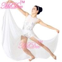 With Accessories Morden Ballet Maxi Dress Sequin Tops Dancewear Ballet Dress For Women