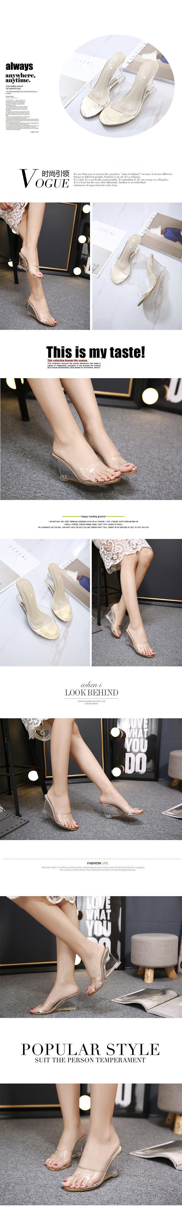 HTB1cIpdXnuHKKRjt XBq6zfepXaK HOKSZVY Women Slipper High Heels Summer Summer Women's Shoes Word Buckle Simple Wedge Sandals Transparent Clear Shoes LFD-833-2