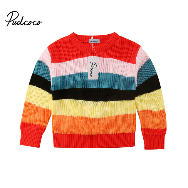 1981eba08a44 pudcoco 1 6T Children Kids baby girl Pullover Knitting Sweater ...