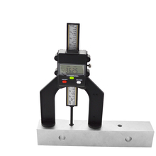 Digital medidor de profundidade do passo medidor de profundidade testador ferramenta medida lcd abertura auto permanente magnética 80mm mão roteadores