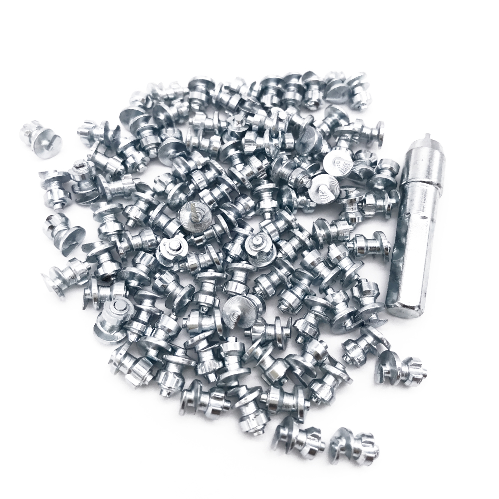 Marrkey 100PCS MS100 6 8 5mm Tires Studs Screw in Spikes Spikes for Tire Ice Spickes