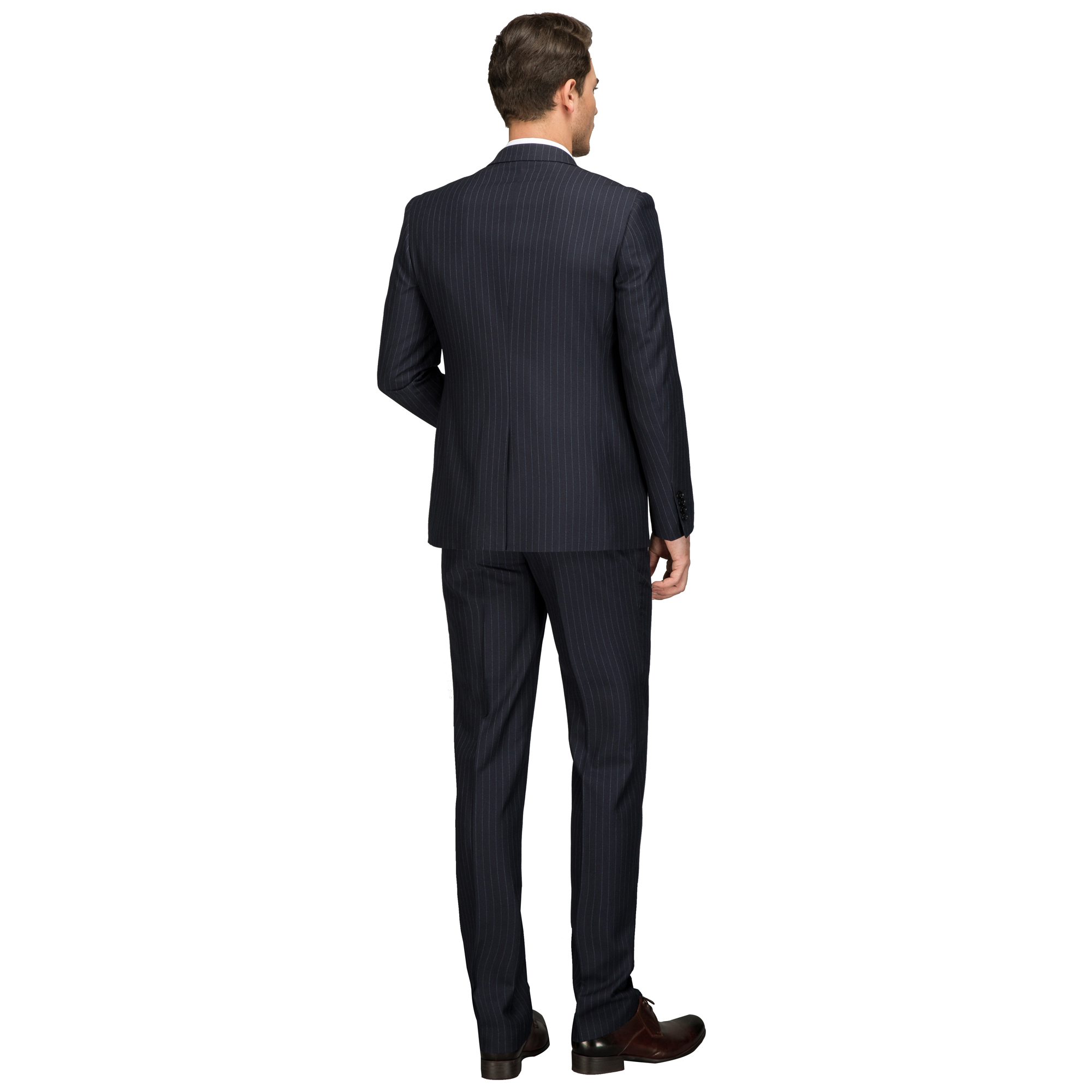 7ada6d5bd89 OSCN7 Wool Striped Customize Suit Men Plus Size Casual Business Wedding Mens  Suits Fashion Terno Masculino 4624 11-in Tailor-made Suits from Men s  Clothing ...