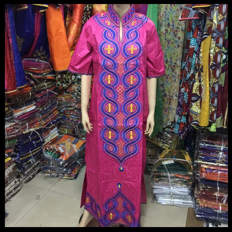 Artı Boyutu kadınlar için afrika giyim afrika Baskı Pamuk uzun - Ulusal Kıyafetler - Fotoğraf 5