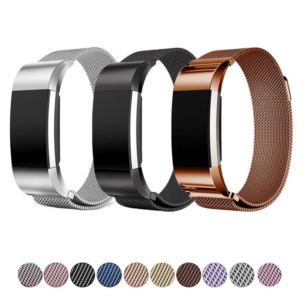 LNOP Milanese schleife armband für Fitbit Ladung 2 band strap Edelstahl metall gürtel ersatz armband für Fitbit Charge2