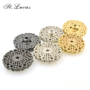 20sets/lot 18mm/21mm/25mm big Metal Snap Fasteners Press decoration Button for suit jacket clasp min