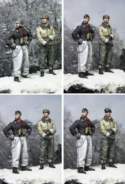 Resin Kits 1/ 35 The German LAH Officers Kharkov Set (2 figures)   soldiers Resin Model DIY TOYS resin figure new
