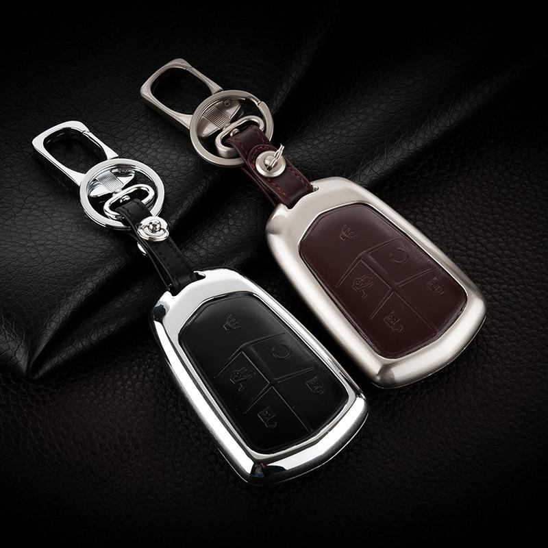 Īstas ādas auto atslēgu piekariņu atslēgu piekariņš Cadillac SRX XTS SLS CTS ATS atslēgu piekariņi turētāja soma