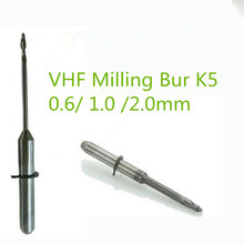 5 PCS/lot Dental Lab Zirconia VHF Milling Burs 0.6/1.0/2.0mm Length 40mm For VHF K5 Cad Cam Open System Zirconia Milling Machine
