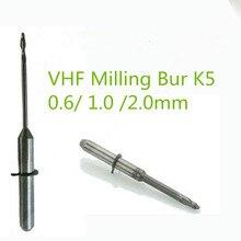 5 stks/partij Dental Lab Zirconia VHF Frezen Boren 0.6/1.0/2.0mm Lengte 40mm Voor VHF K5 cad Cam Open Systeem Zirconia Freesmachine