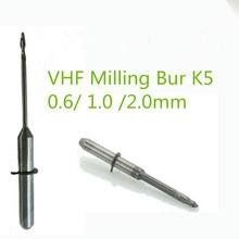 5 teile/los Dental Labor Zirkonia VHF Fräsen Burs 0,6/1,0/2,0mm Länge 40mm Für VHF K5 cad Cam Open System Zirkonia Fräsen Maschine