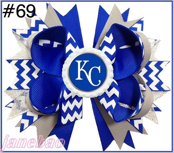 free shipping 50pcs 4 5 Baseball Hair Bow Hair Bow Boutique Style Rangers hair bows MLB