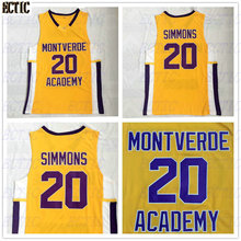 2018 New Cheap Ben Simmons 20 Montverde Academy Eagles Throwback Basketball  Jersey Yellow Stitched Sewn Retro 2bd03c06f