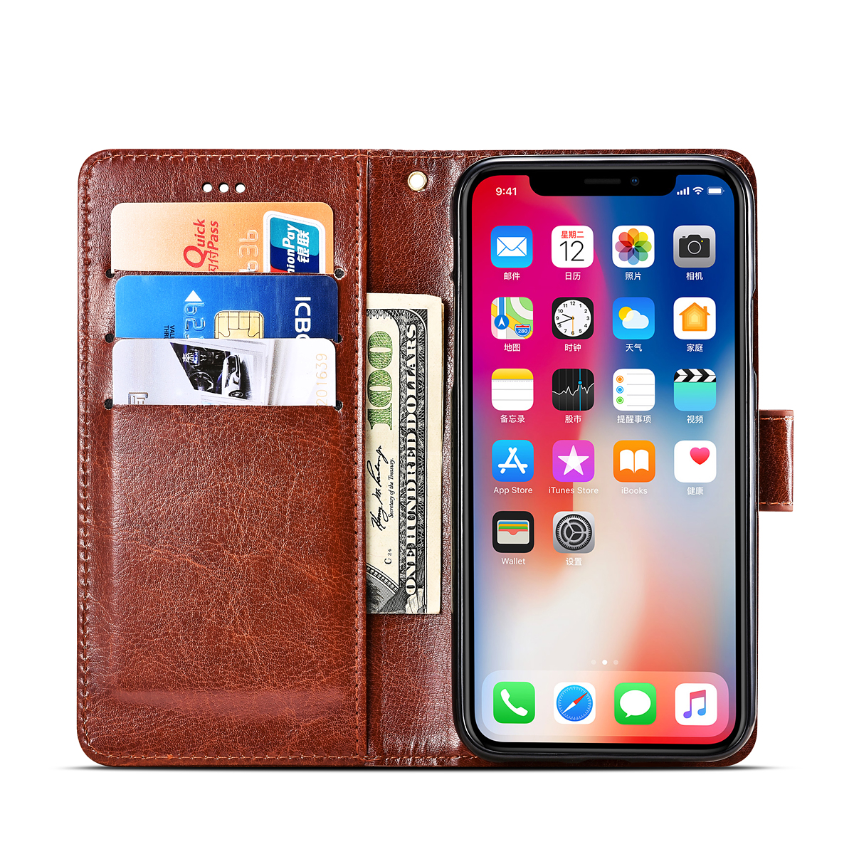 Wallet Case for Homtom HT17 Case Phone Bag PU Leather Flip Card Holder Cover Coque Case for Homtom HT17 Case
