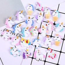 10PC Resin Unicorn Slime Supplies DIY Crystal Slime Filler Clear Clay Supply Slime Kit Accessories Phone Case Decoration(China)