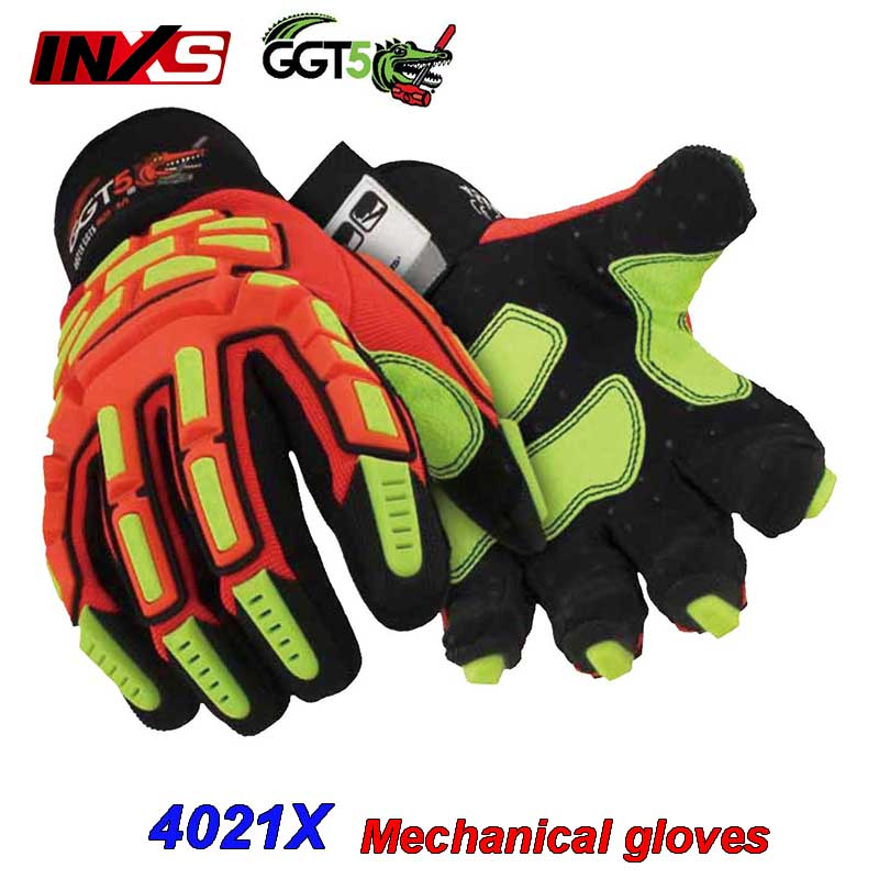 SAFETY-INXS 4021X mechanic gloves Anti-puncture Cut-proof safety gloves High grade Non-slip Oil resistance work gloves