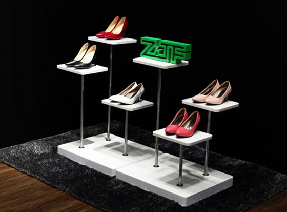 Exhibition Stand Shoes : Shoes display shelf white wrought iron shoes shop props holding
