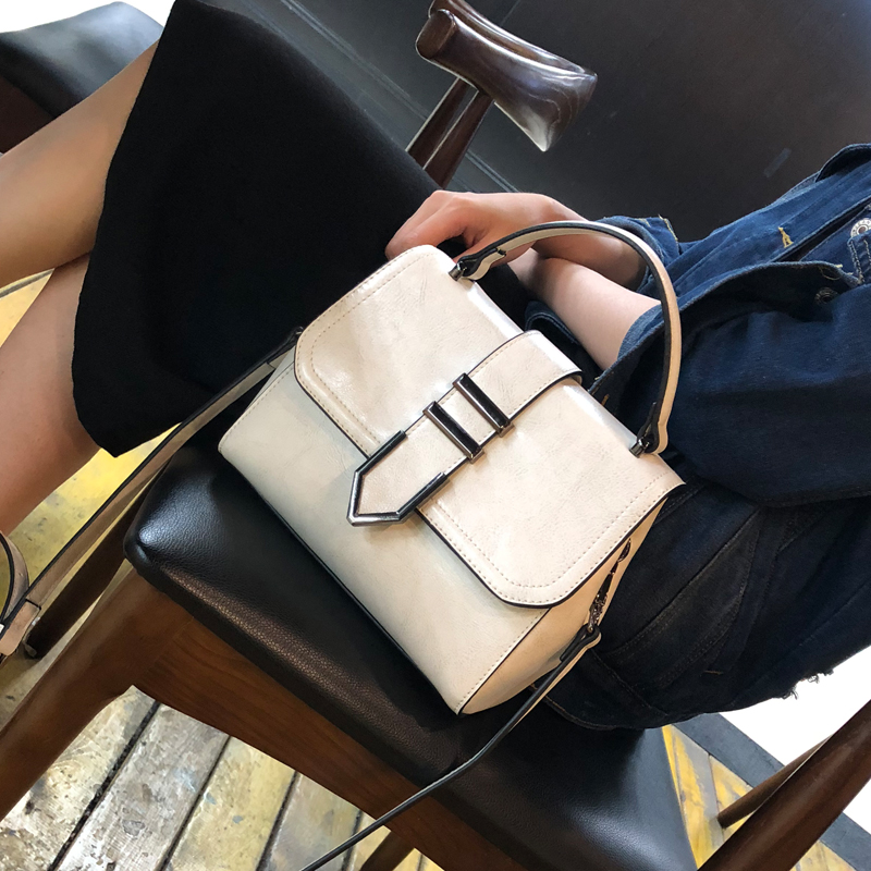 2018 New Women's Branded Handbags Leisure Genuine Leather Handbag White Wild Sets of Bags For Women стоимость