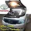 Fortuner фар, 2011 ~ 2015, Свободный корабль! Fortuner противотуманные фары, 2 шт. + 2 шт. Баласт, Fortuner драйвер свет, Fortuner передний свет, Hilux, ВИГО