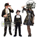 2017 New Design Halloween Masquerade Queen Of Priate Costumes Cosplay Caribbean Devil suit Family Match Stage Performance Suit