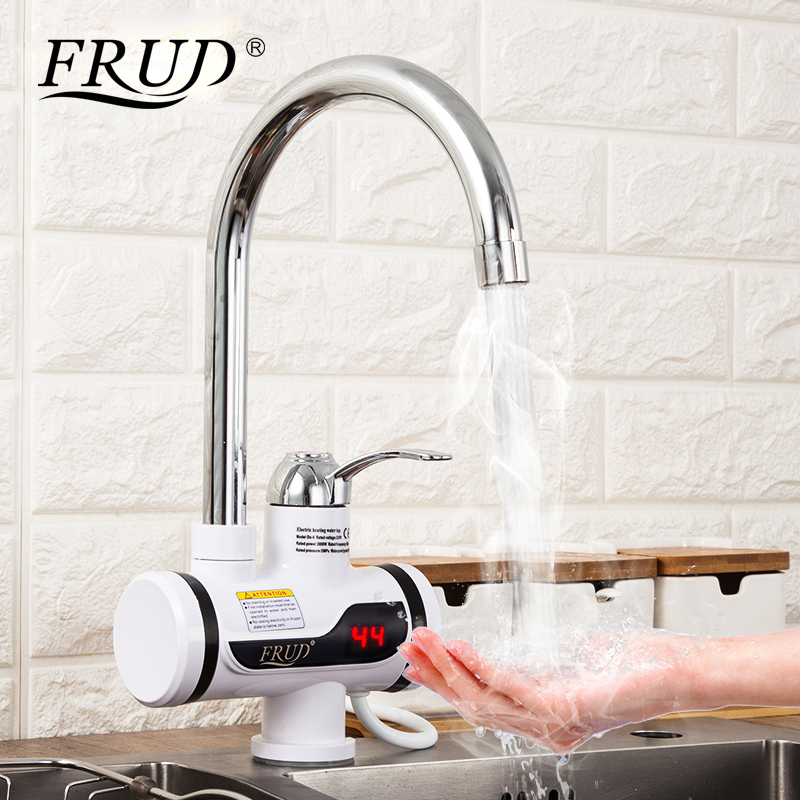 FRUD Water Heater Tap Kitchen Faucets Instantaneous Water Heater Shower Instant Heaters Tankless Water Heating with Aerator