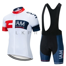 2019  IAM Cycling Jersey Black Man Clothing Team Quick Dry Short Sleeve MTB Bike 9D GEL