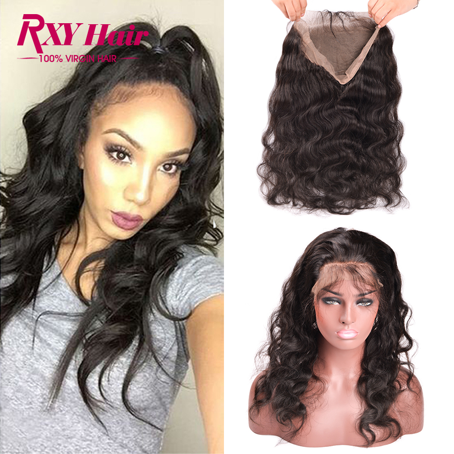 ФОТО Malaysian 360 Lace Frontal Closure With Adjustable Straps Top 7A Grade Lace Frontals With Baby Hair Malaysian Body Wave Frontal