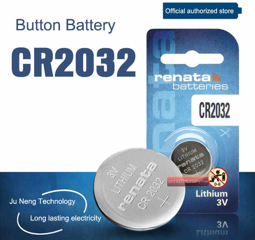 1 máy tính Thụy Sĩ CR2032 Renata Nút Pin 3 V Li-ion Pin Cho đồng hồ Đồ Chơi Điều Khiển từ xa