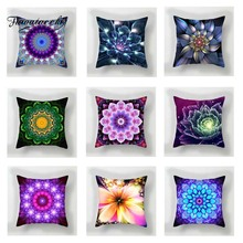 Fuwatacchi Colorful Floral Cushion Cover Mandala   Soft Throw Pillow Cover Decorative Sofa Pillow Case Pillowcase цены