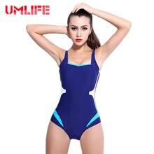0f48b076e895 Más tamaño de una pieza traje Bikinis sexy mujeres profesional bañadores  del entrenamiento de la piscina traje de baño push up b.
