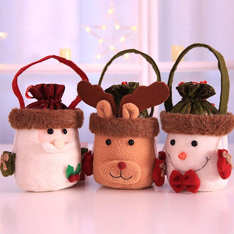 Christmas Candy Gift Bags Cute Santa Snowman Elk Bag ...