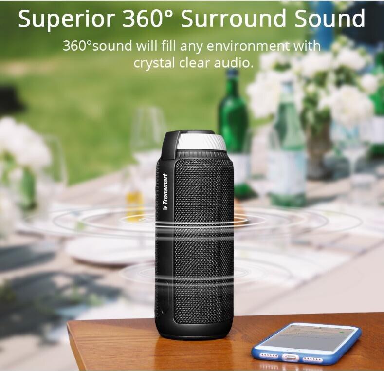 Tronsmart Élément T6 haut-parleur Bluetooth Portable Soundbar Bluetooth 4.1 Récepteur Audio mini haut-parleur sans fil pour La Musique MP3 Lecteur