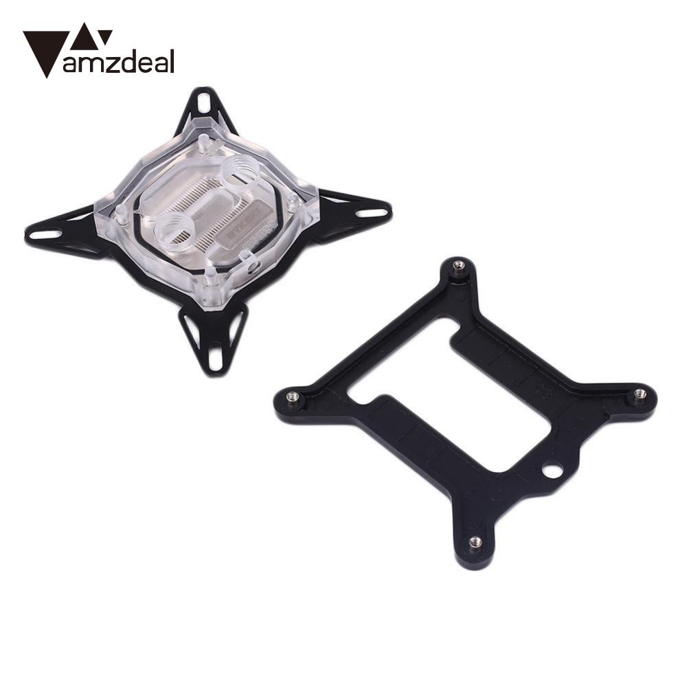 все цены на amzdeal CPU Water Cooling Block Arylic Waterblock For Computer Intel Supplies Universal Cooling system онлайн