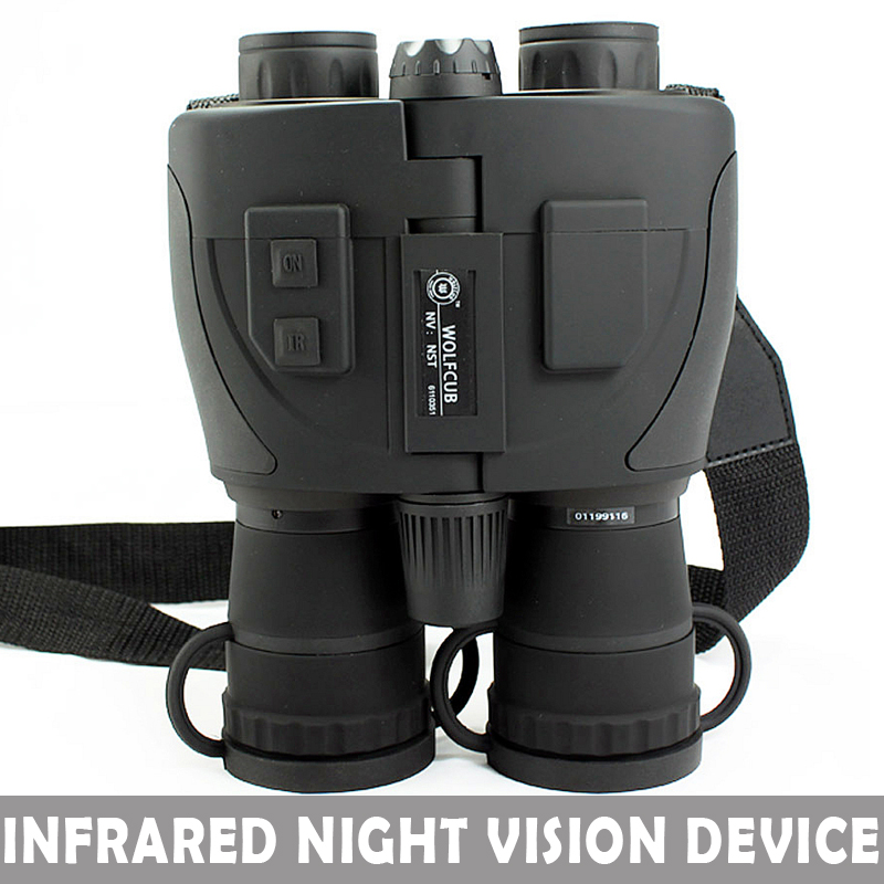 Infrared Night Vision Binoculars DEVICE Tactical Scout Full darkness zoom 5X NIGHT VISION Telescope binocular For Hunting Бинокль