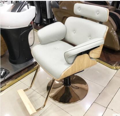 Простой волос Salon Парикмахерская волосы красоты волос стул shake-Up красный парикмахерское кресло цвета розового золота chassis.1 - Цвет: 02