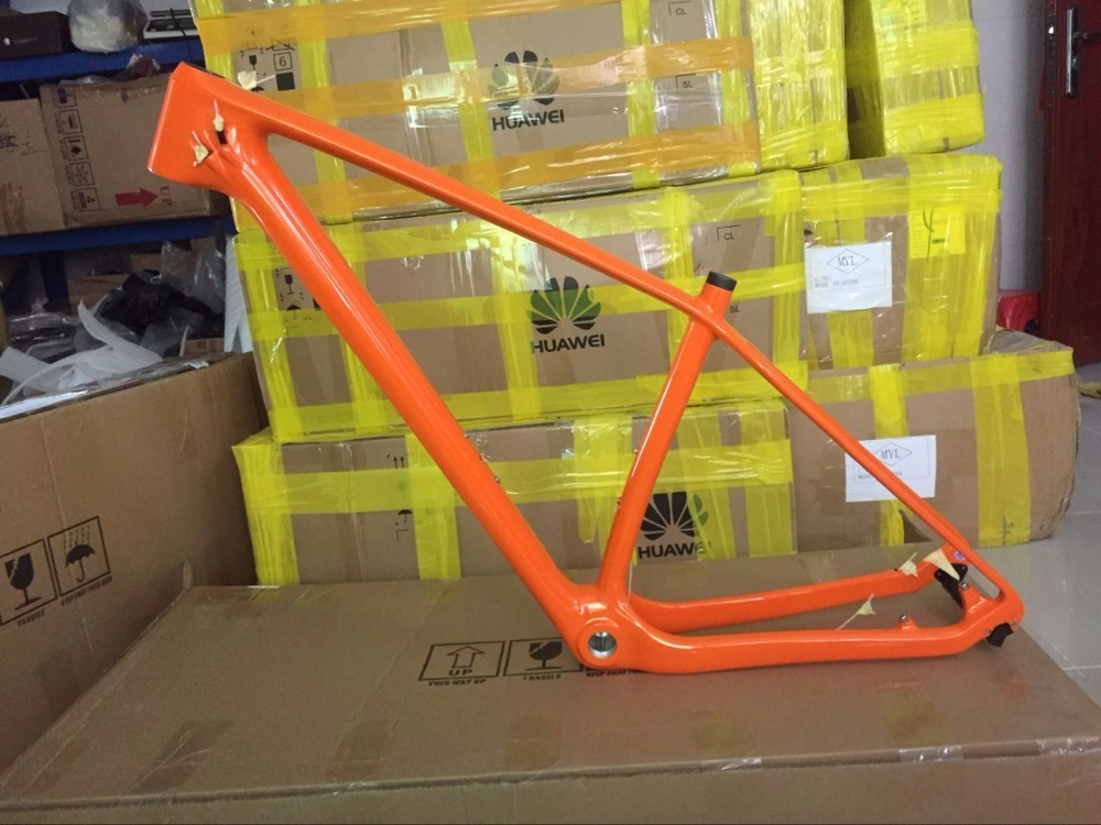 Carbon mtb Mountain Bikes Frame 29er T800 Carbon Bike Bicycle Frame mtb 29er 27.5/26er 15 17 19 Bike Carbon Frame Orange 2017 mtb bicycle 29er carbon frame chinese mtb carbon frame 29er 27 5er carbon mountain bike frame 650b disc carbon mtb frame 29