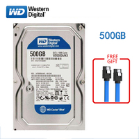 WD BLUE brand 500GB internal hard disk 3.5 7200RPM SATA3 HDD 6Gb/s 500G HD hard disk for desktop computers free shipping