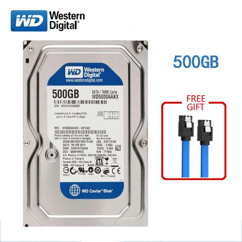 WD BLUE marque 500GB disque dur interne 3.5 7200 tr/min SATA3 HDD 6 Gb/s 500G disque dur HD pour ordinateurs de bureau livraison gratuite