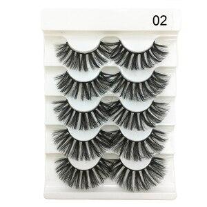 Image 4 - 5 пар 3D Искусственные норковые волосы, мягкие искусственные ресницы, искусственные ресницы, толстые ресницы ручной работы, мягкие натуральные инструменты для макияжа глаз